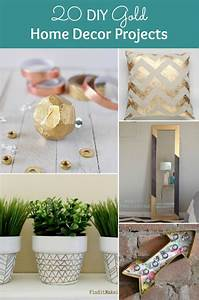 20, Diy, Gold, Home, Decor, Projects