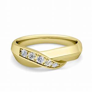 infinity diamond mens wedding ring band in 14k gold my love With mens infinity wedding ring