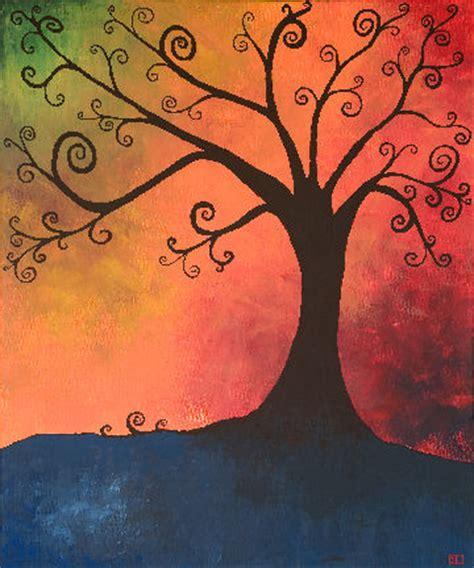 gambar lukisan bunga alam abstrak terbaru