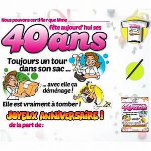 Idée Cadeau 40 Ans Femme : image anniversaire 40 ans femme ~ Teatrodelosmanantiales.com Idées de Décoration