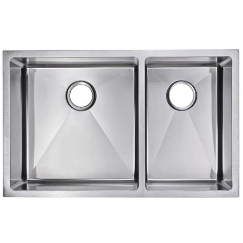 60 40 stainless steel sink water creation undermount stainless steel 32 in 60 40