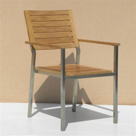 siro teak and stainless steel outdoor expandable table