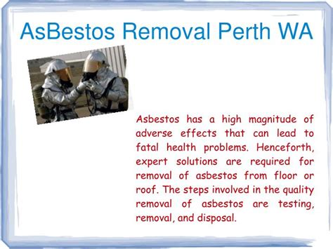 asbestos removal perth wa powerpoint