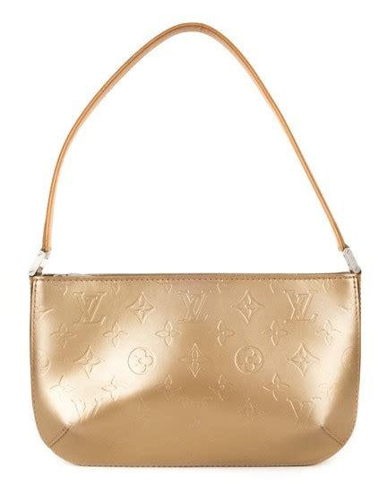 louis vuitton mat pochette vernis monogram fowler bronze patent leather shoulder bag tradesy
