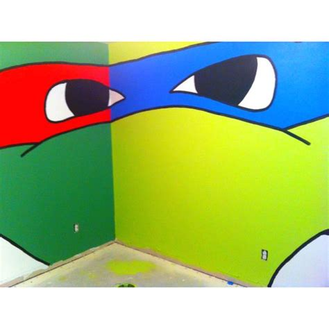 light blue ninja turtle i only want light green walls with each wall one of the