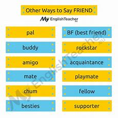 Other Ways To Say Best Friend?  Myenglishteachereu Forum  Myenglishteachereu Forum