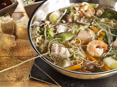 cuisiner nouilles chinoises fondue de poisson japonaise colruyt