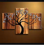 Living Room Canvas Art by Enchant Contemporary Wall Art Hand Painted Art Paintings For Living Room Tree