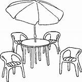 Furniture Patio Coloring Pages sketch template