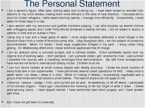 personal statement student