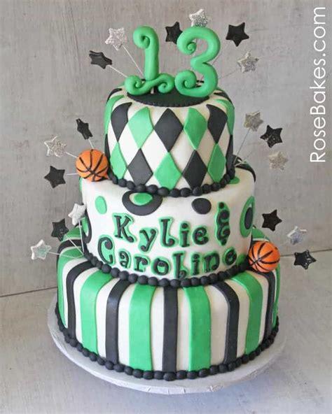 school spirit basketball  birthday cake rose bakes