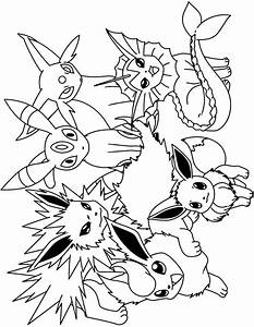 Pokemon Eevee Evolutions Coloring Pages | Coloring Pages ...