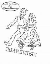 Embroidery Patterns Pattern Dance Square Western Transfers Romantic Couples Knots French Dancing Samples Promenade Towels Tipnut Kitten Transfer Couple Dancers sketch template