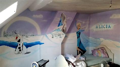 chambre la reine des neiges chambre de filles sur le thème de la reine des neiges
