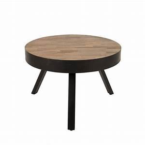 Table Basse Ronde Industrielle : table basse ronde 58 cm en teck recycl suri medium ~ Teatrodelosmanantiales.com Idées de Décoration