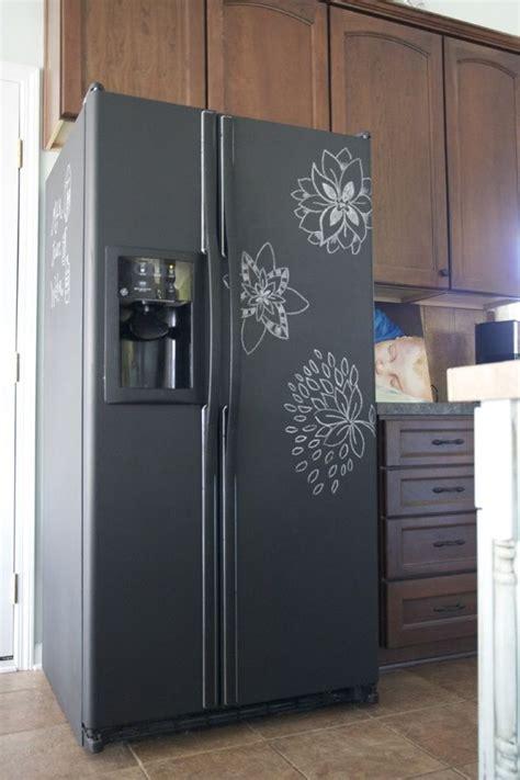 chalkboard paint refrigerator ideas  pinterest chalkboard fridge cheap fridge