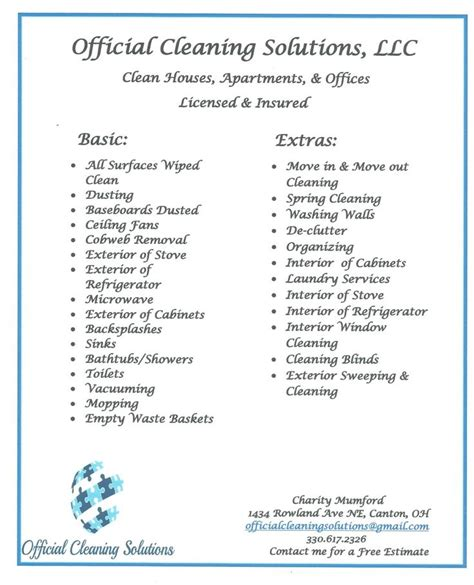 house cleaning rates cleaning services cleaning flyer residential cleaning