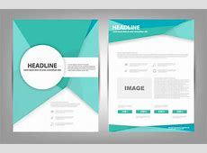 Colorful brochure design in coreldraw free vector download