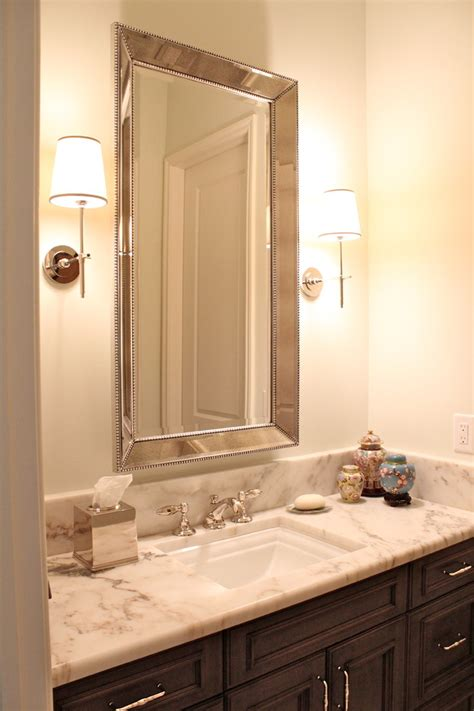 crown moulding ideas for kitchen cabinets powder room mirror powder room contemporary with bathroom
