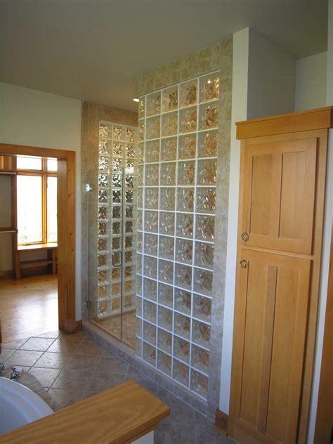 glass block shower design installation custom shower base