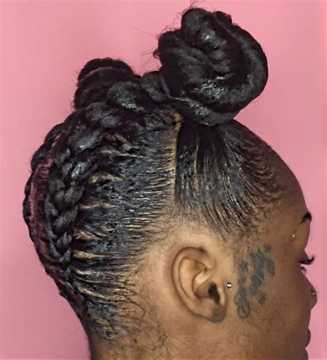 box braids bun  beautiful black women hairstyles