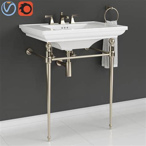 kohler console table bathroom sink  turbosquid