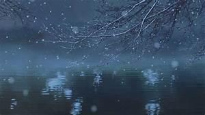 gif snow winter gifs anime water Makoto Shinkai scenery ...
