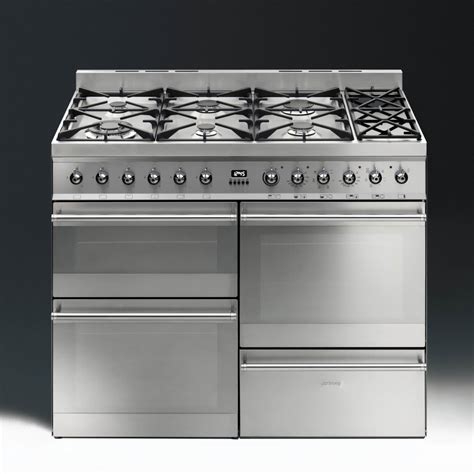 smeg gas range cooker smeg cookers appliances symphony sy4110 8 dual fuel