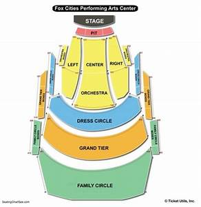 Miller Performing Arts Center Seating Chart Fox Cities Performing Arts Center Seating Chart Seating