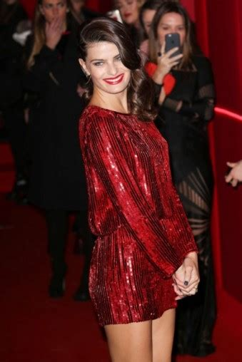 Isabeli Fontana wears a red sequin mini dress at the 2016 ...