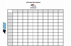 free printable 2016 superbowl betting squares stylish With football betting pool template