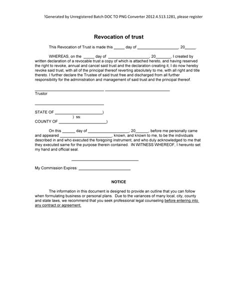 trustee demand for information template texas new blog 1 revocation of trust form