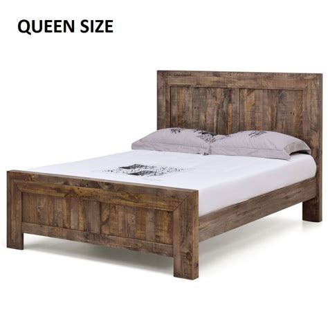boston queen rustic pine recycled timber bed frame buy queen bed frame