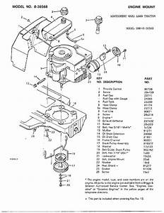 Engine Mount Diagram  U0026 Parts List For Model 836568 Murray
