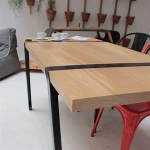 Tréteaux Pour Table : pi01 paire de tr teaux en acier m tal noir blanc ou gris pour la cr ation d 39 un bureau ou d 39 une ~ Melissatoandfro.com Idées de Décoration