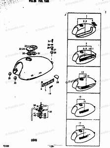 Suzuki Motorcycle 1973 Oem Parts Diagram For Fuel Tank