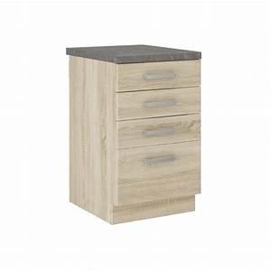 Meuble Avec Plan De Travail : lassen meuble bas de cuisine 40 cm avec plan de travail ~ Dailycaller-alerts.com Idées de Décoration