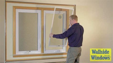 wallside windows casement window screen operation youtube