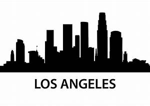 Los Angeles Skyline Silhouette | Details about Los Angeles ...