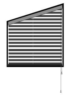 blinds for trapezoid windows | Wooden blinds for large
