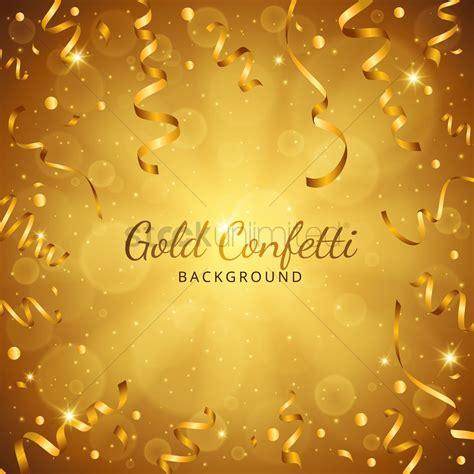 Gold Confetti Background Gold Confetti Background Vector Image 1807947
