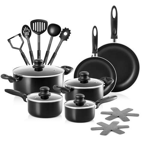 kochtöpfe und pfannen kochen chefs set aluminium t 246 pfe und pfannen 17 st 252
