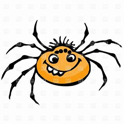 Spider Cartoon Clipart Clip Web Spiders Face
