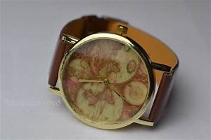 Retro Uhr Damen : original asos damen armband uhr gold weltkarte globus retro vintage blogger ~ Markanthonyermac.com Haus und Dekorationen