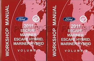 2011 Ford Escape Mercury Mariner Wiring Diagram Manual Original For Gasoline Models