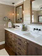 Bathroom Light Design Decor Farmhouse Bathroom Idea In San Diego With Dark Wood Cabinets Brown