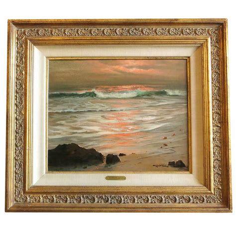 surf  sunset oil painting  robert wood modernism