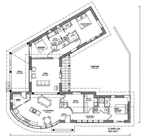 courtyard floor plans bale courtyard plan