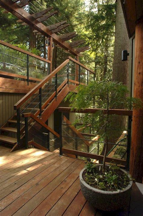 amazing  unique outdoor wooden stairs ideas   enhance  garden beauty freshouz