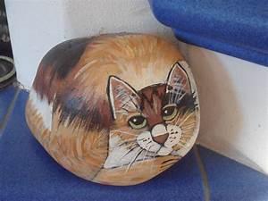 Steine Bemalen Katze : handbemalter stein katze dreifarbig bei ebay bemalter stein bemalte steine katzen tiere auf ~ Watch28wear.com Haus und Dekorationen